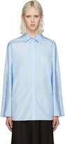 Nina Ricci Blue Technical Silk Blouse