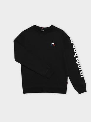 Le Coq Sportif Pierre Pullover Sweater in Black