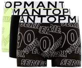 Topman Black And Lime 'Equinox' Print Trunks 3 Pack*