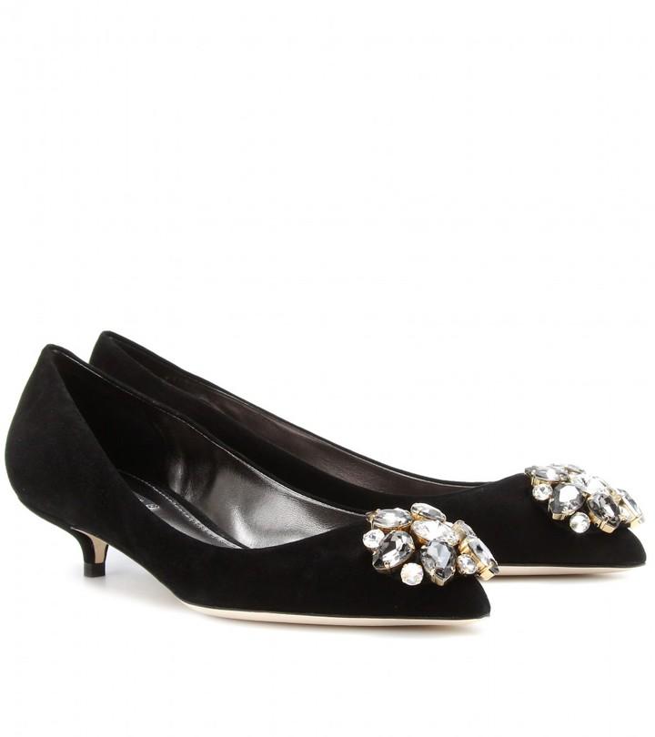 Dolce & Gabbana EMBELLISHED KITTEN HEEL PUMPS