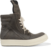 Rick Owens Brushed-leather high-top sneakers
