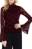 Vince Camuto Petite Women's Bell Sleeve Lace Top