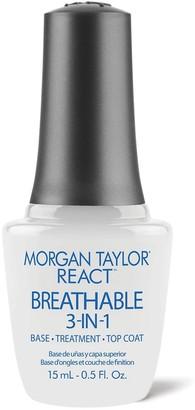 Morgan & Taylor REACT Breathable 3-IN-1 Base, Treatment, Top Coat