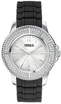 Versus By Versace Women's SGM050013 Tokyo Crystal Round Stainless Steel Silver Sunray Dial Crystals Watch