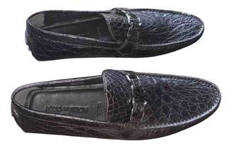 Louis Vuitton Monte Carlo Brown Crocodile Flats