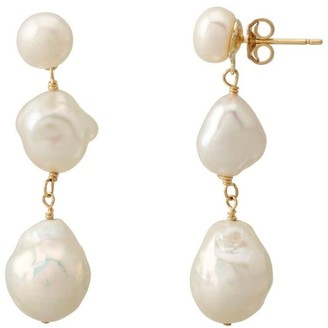 Coco Mango Jewellery Eva Baroque Pearl Drop Earrings