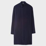 Paul Smith Women's Navy Silk Crêpe Shirt-Dress