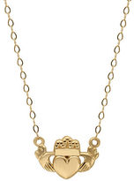 Lord & Taylor 14 Kt. Yellow Gold Claddagh Charm Necklace