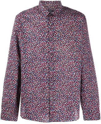 Paul Smith Long-Sleeved Abstract-Print Shirt