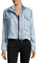 Calvin Klein Jeans Zip-Front Chambray Jacket
