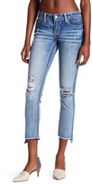 Soundgirl Frayed Uneven Hem Cropped Skinny Jean