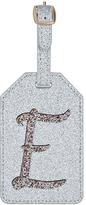 Accessorize Glitter E Alphabet Luggage Tag
