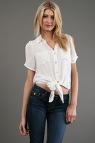 Open Shoulder Blouse in White