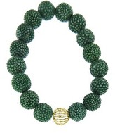 Sydney Evan Wire Bezel Ball with Diamonds on Jade Stingray