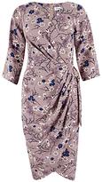 Closet Tulip Print Drape Skirt Dress, Multi