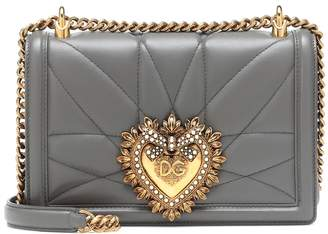 Dolce & Gabbana Medium Devotion leather shoulder bag