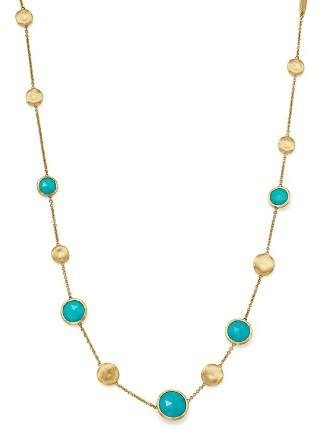 Marco Bicego 18K Yellow Gold Jaipur Turquoise Necklace, 16""