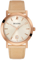 Bulova Men's Quartz Leather Strap Watch