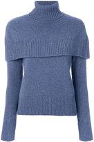 Chloé cape shoulder sweater - women - Cashmere - M