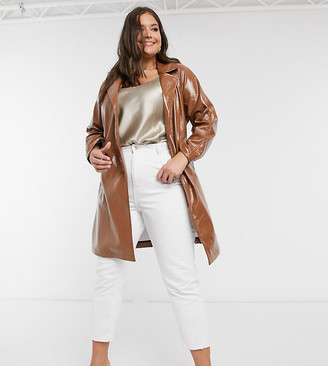 Wednesday's Girl Curve belted trench coat in vinyl