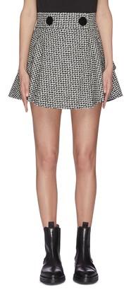 Alexander Wang Houndstooth check plaid tweed skirt