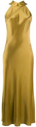 Galvan cropped Sienna dress