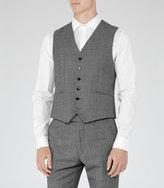 Reiss Reiss Delliston W - Wool Mix Waistcoat In Grey
