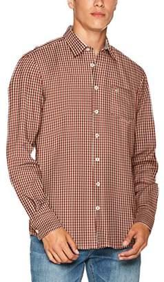 Camel Active Men's DAN Kent 1/1 Casual Shirt, (red COR Los 43), (Size: X-Large)