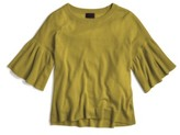 J.Crew Women's Featherweight Cashmere Ruffle Sleeve Sweater