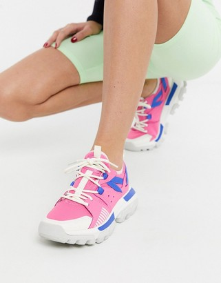 CAT Footwear CAT Raider Sport chunky trainers in pink mix