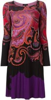 Etro paisley print shift dress - women - Wool - 40