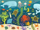 One Kings Lane Ocean Life Floor Puzzle - Blue