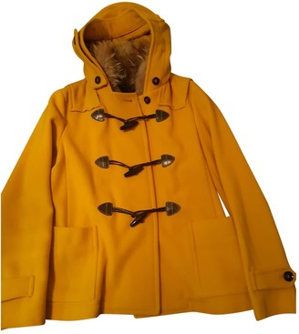 Max Mara Weekend Yellow Wool Coats