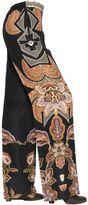 Etro Printed Textured Silk Pants