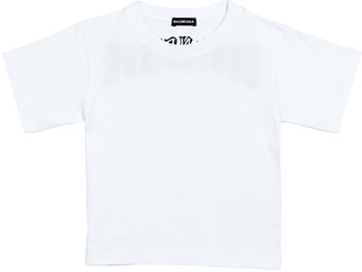 Balenciaga Gothic Logo T-Shirt, Size 2-10