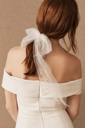 New View Untamed Petals Parell Tulle Bow Barrette
