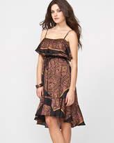 Le Château Chiffon Scarf Print Tank Dress