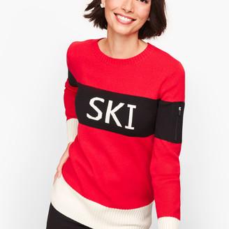 "Talbots Colorblock ""Ski"" Sweater"