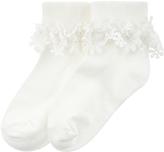 Monsoon Girl Flower Lace Socks