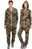 One Piece Camouflage Cotton Blend Jumpsuit