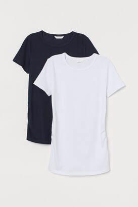 H&M MAMA 2-pack jersey tops