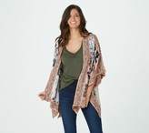 Tolani Collection Regular Printed Open Front Woven Kimono