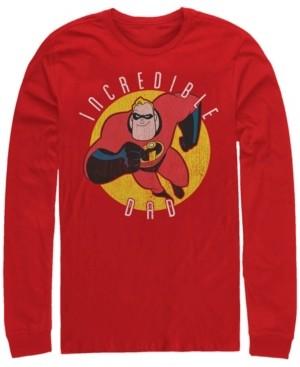 Disney Pixar Men's Incredibles Super Dad, Long Sleeve T-Shirt