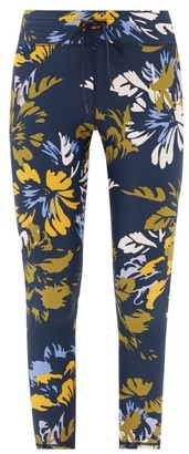 The Upside Kauai Floral-print Jersey Leggings - Womens - Navy Multi