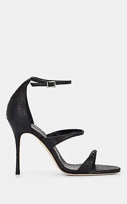 Manolo Blahnik Women's Snakeskin Sandals - Black Snake
