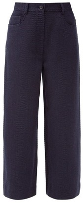 Acne Studios Priska Wide-leg Wool-blend Twill Trousers - Navy
