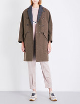 Brunello Cucinelli Reversible double-breasted cashmere and shell coat