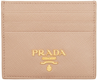 Prada Pink Saffiano Leather Card Holder