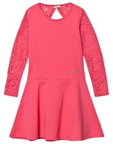 GUESS Pink Lace Sleeve Dress