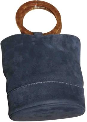 Simon Miller Medium Bonsai Navy Suede Handbags